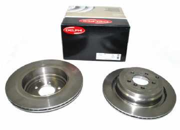 LR031844 Delphi BG4021C Rear Brake Discs (Pair)